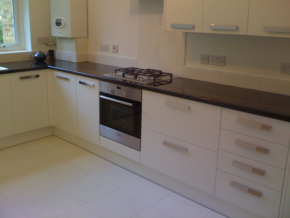 Great White Marble Floor With Howdenu0027s Greenwich Kitchen